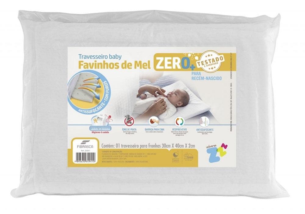 Travesseiro BABY Favinhos de MEL Zero + Fibrasca
