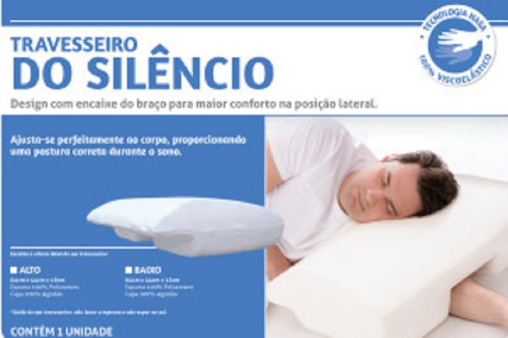 Travesseiro CDO Silencio Perfil ALTO Visco Elastico Perfetto