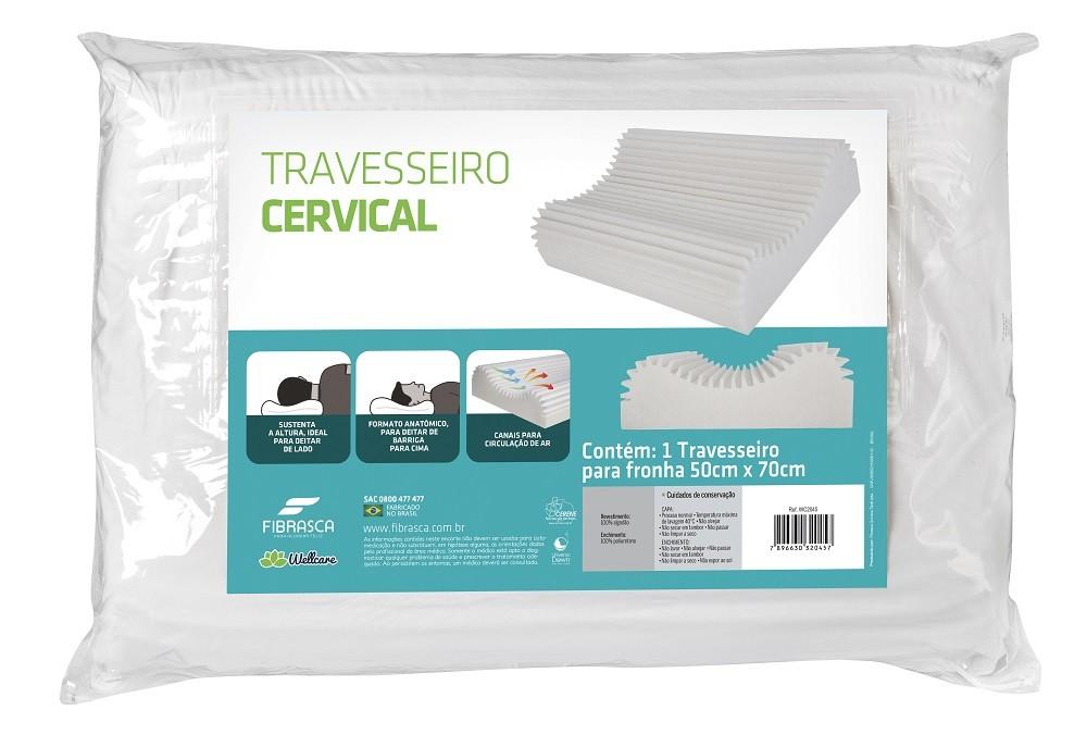 Travesseiro Cervical Latex Lavavel Fibrasca