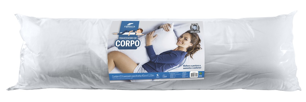 Travesseiro de Corpo 40X130 Fibrasca