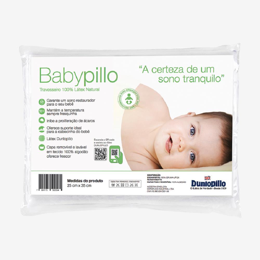 Travesseiro de Latex Dunlopillo Babypillo