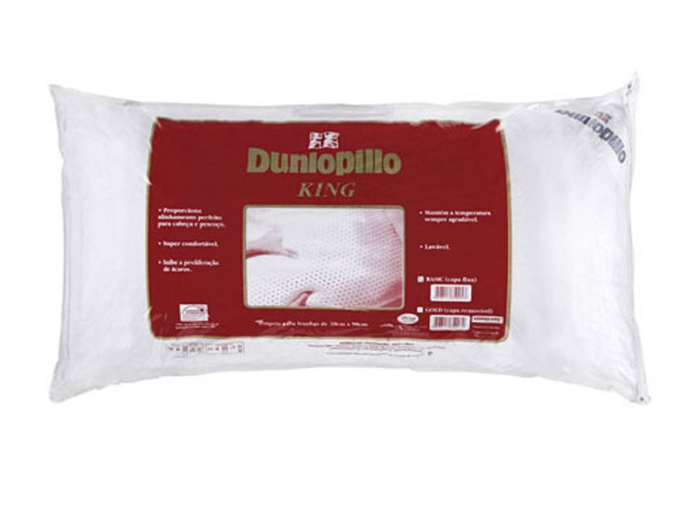 Travesseiro de Latex Dunlopillo Basic KING