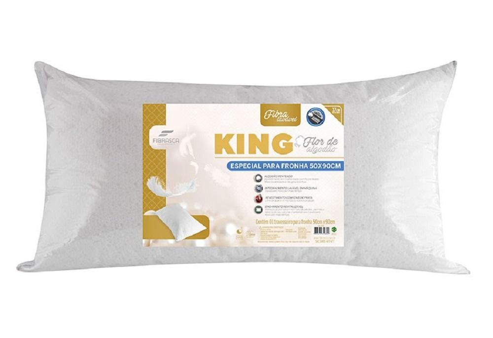 Travesseiro KING FLOR de Algodão 50X90 Fibrasca