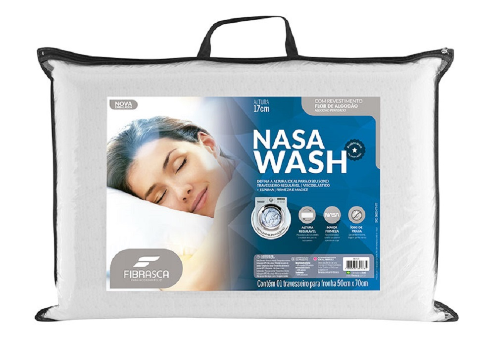 Travesseiro Nasa WASH Fibrasca