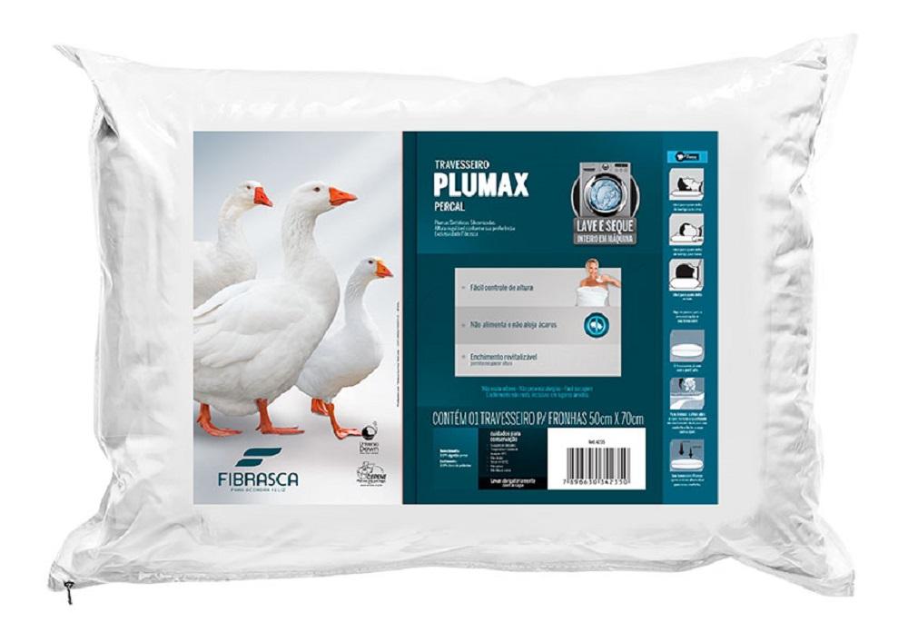 Travesseiro Plumax Percal Fibrasca