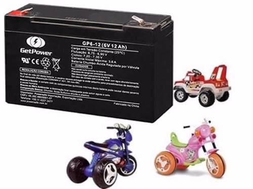 Bateria Selada Para Brinquedos Carrinhos Elétricos 6v 12ah