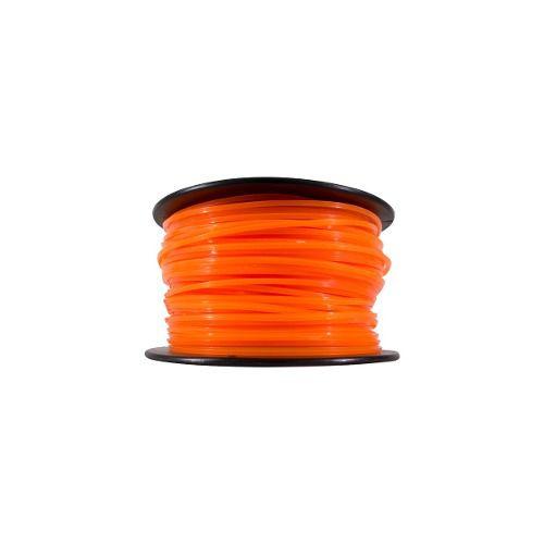 Fio De Nylon Para Rocadeira 3mm Quadrado 1kg Laranja