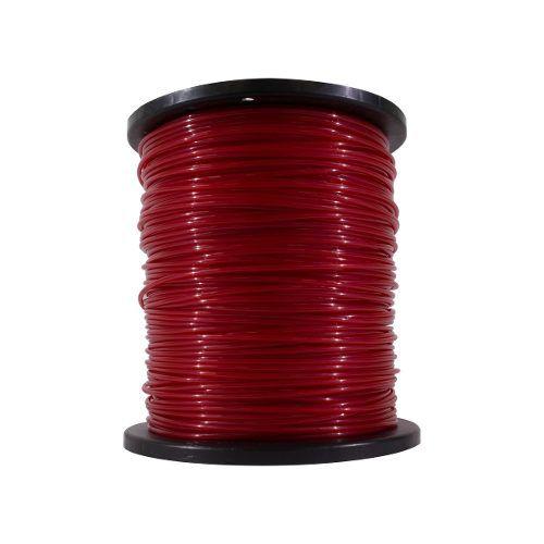 Fio De Nylon Rocadeira 3mm Redondo 2kg Vermelho
