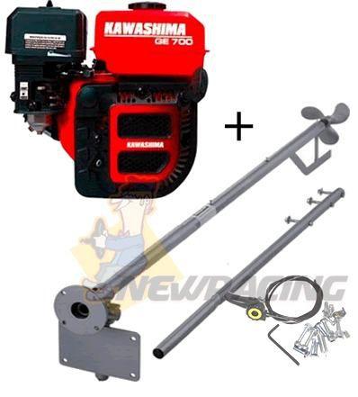 Motor Barco 7hp 4t Kawashima Popa + Rabeta Std 1.70mt
