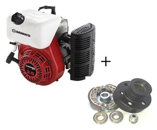 Motor Branco 3.5 Hp 2t Geração 6 Com Embreagem
