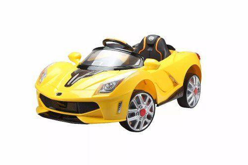 Carro Elét. Esporte Luxo Amarelo C/controle 12v