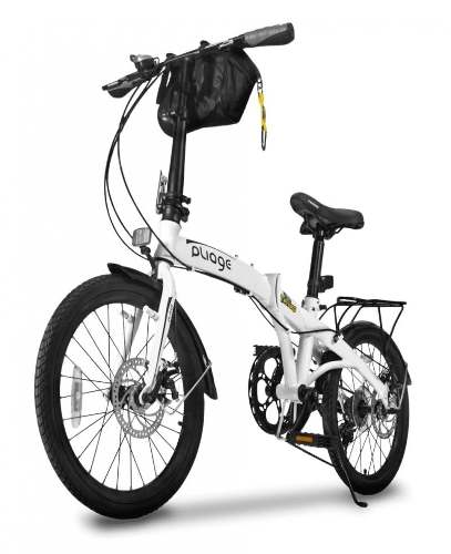 Bicicleta Bike Dobrábvel Two Dogs Branco Pliage Plus