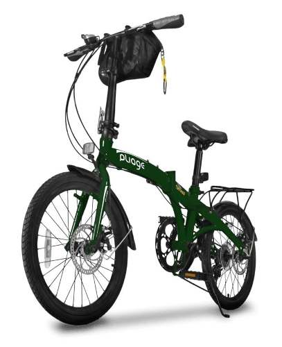 Bicicleta Bike Dobrábvel Two Dogs Verde Pliage Plus