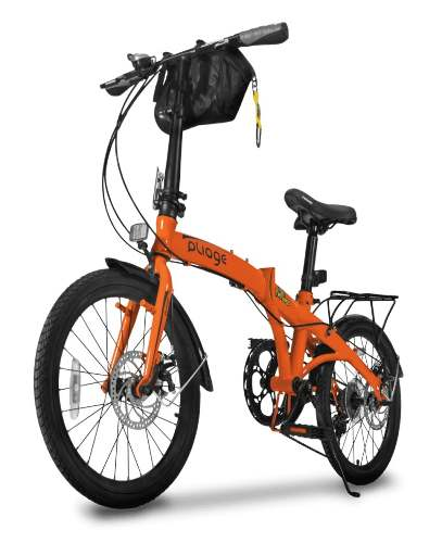 Bicicleta Bike Dobrábvel Two Dogs Laranja Pliage Plus