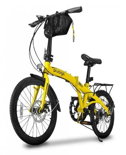 Bicicleta Bike Dobrábvel Two Dogs Amarelo Pliage Plus