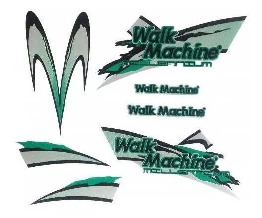 Adesivo Azul Original Para Walk Machine verde