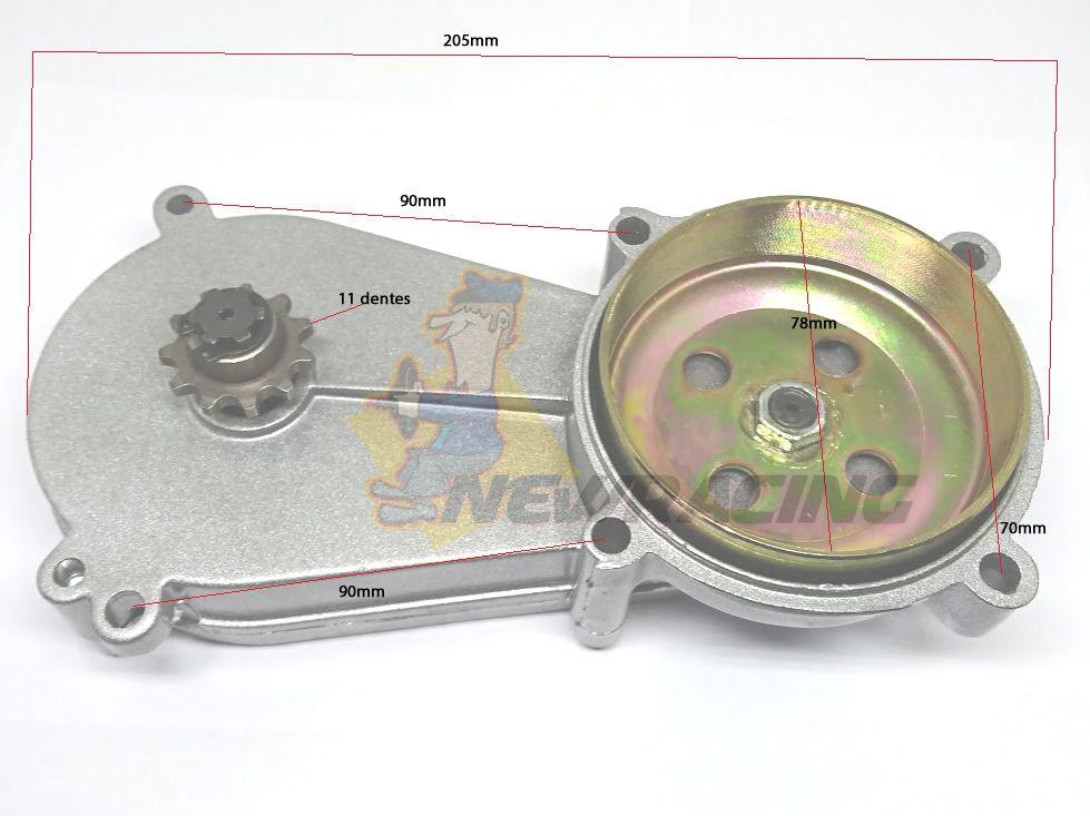Caixa De Transmissão Mini Moto Pinhao / Quadriciclo 49 Cc