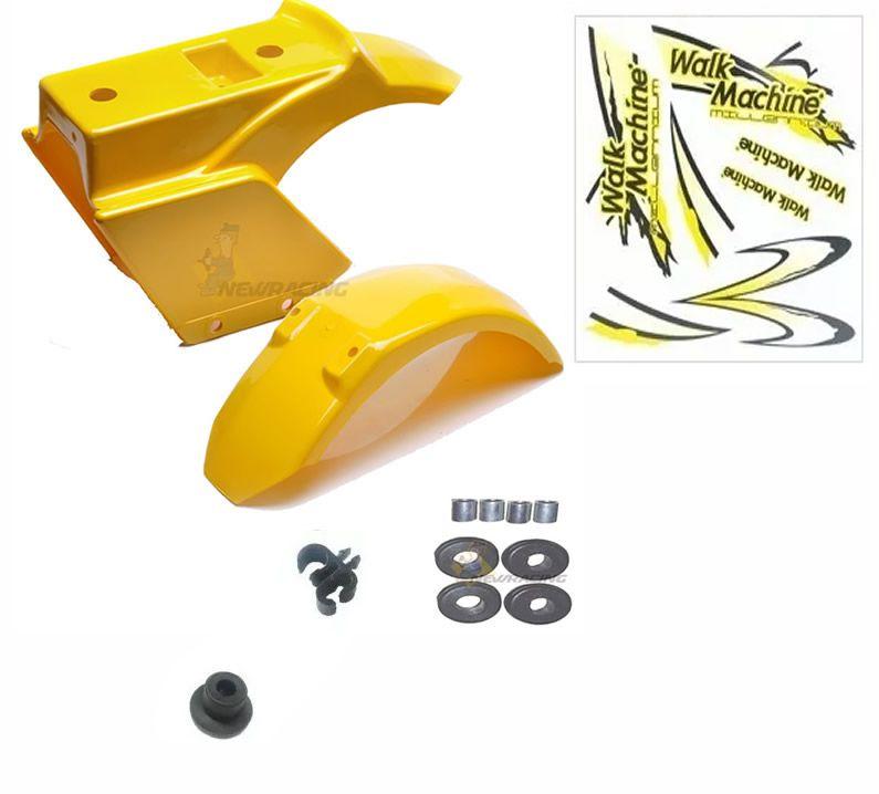 Carenagem amarela Completa, Adesivo Walk Machine Original
