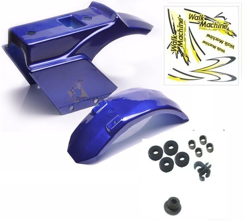 Carenagem Azul Completa  Adesivo amarelo Walk Machine Original