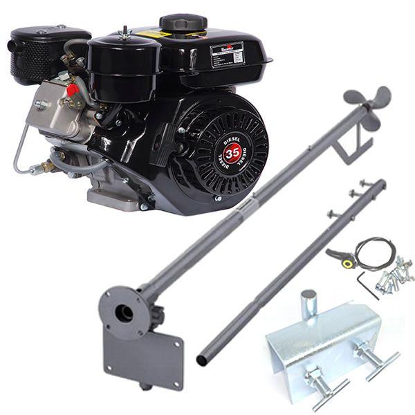 Motor Barco 3.5 Bote Diesel Toyama Popa + Rabeta 2.20MT + Kit!