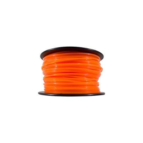 Fio De Nylon Para Rocadeira 3mm Quadrado 1kg Laranja 066 01