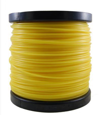 Fio De Nylon Para Rocadeira 3mm Redondo 2kg Amarelo