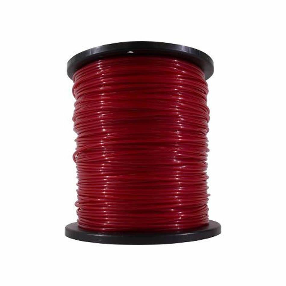 Fio De Nylon Rocadeira 3mm Redondo 2kg Vermelho Pf