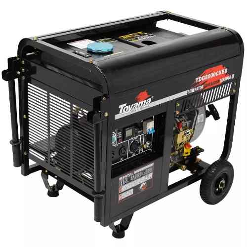 Gerador A Diesel 6500w Tdg8000cxeb Toyama 127/220v