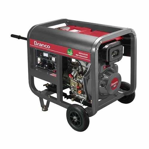 Gerador Diesel Branco Bd 6500 Partida Manual