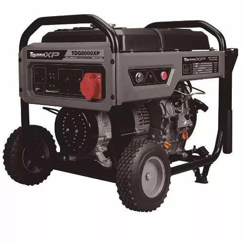 Gerador Energia Diesel Toyama Tdg8000exp3 Elétrico 240/380v