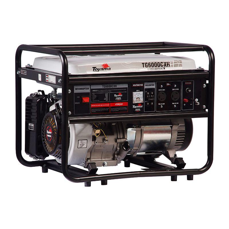 Gerador Energia Gasolina 5,5 Kva 4t Bivolt Tg6000cxh Toyama