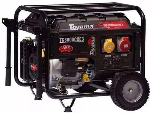 Gerador Gasolina Toyama Tg8000cx3ed Elétrica/trifásico 220v