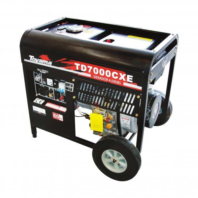 Gerador Diesel  Monof. Tdg7000Cxe Toyama