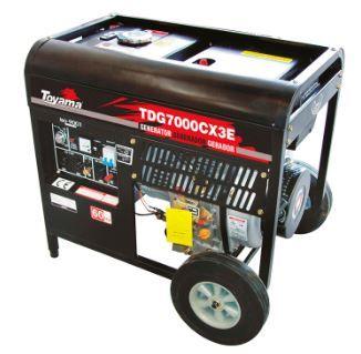 Gerador Diesel A Ar - Abertos Monofásico Tdg7000Cxe Ats Ready Toyama