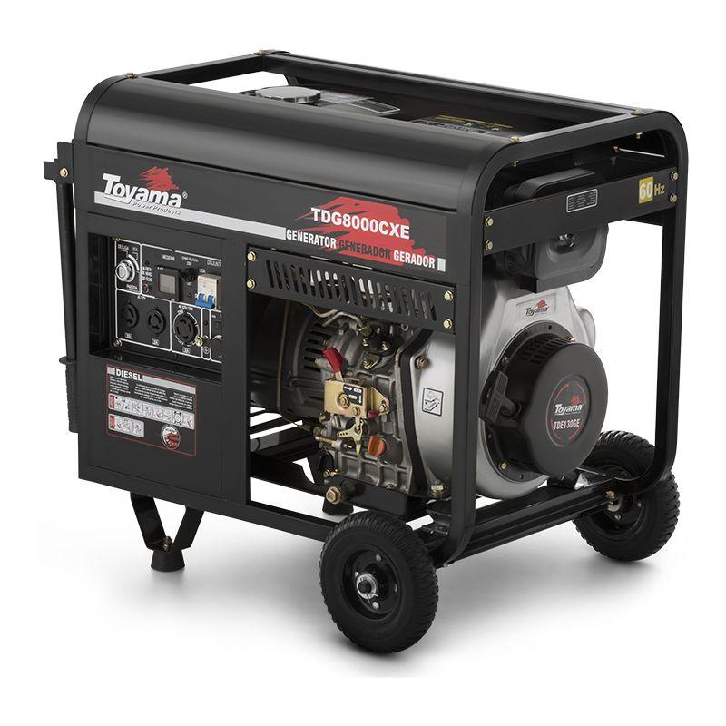 Gerador Diesel A Ar - Abertos Monofásico Tdg8000Cxe Toyama