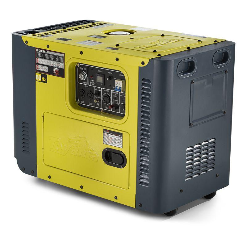 Gerador Diesel  - Cabinado Monof. Tdg8000Sle Toyama