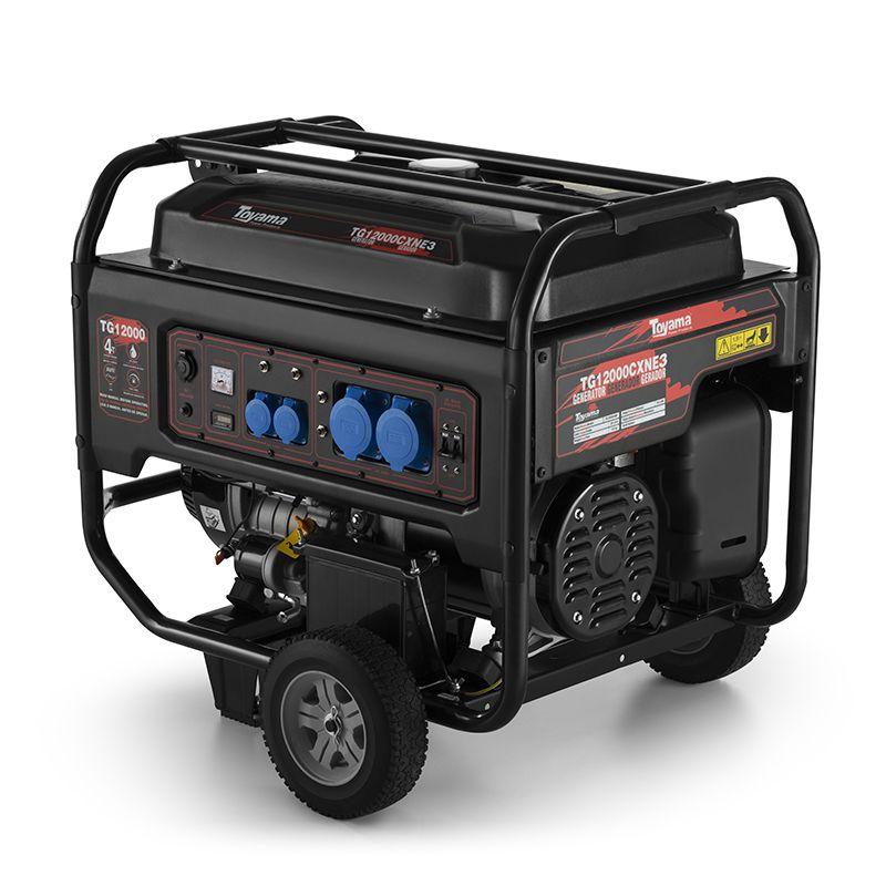Gerador Gas. 4 Tempos - Trifásico Acima Tg12000Cxne3D Toyama