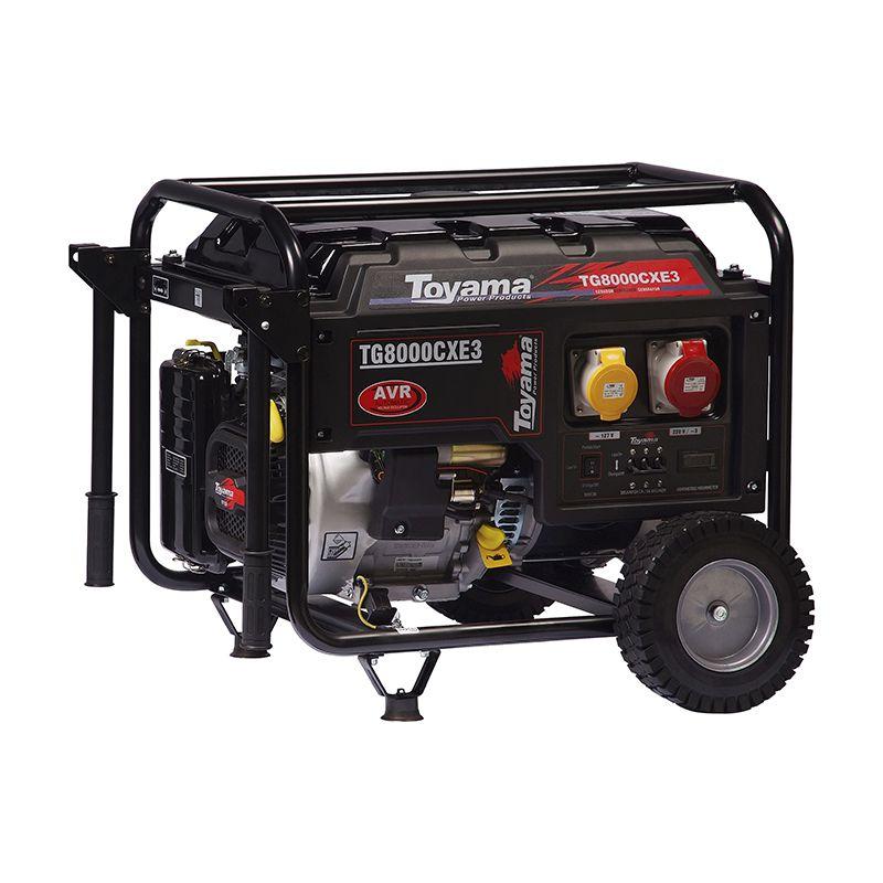 Gerador e Gasolina  4 Tempos - Trifásico Tg8000Cxe3 Toyama