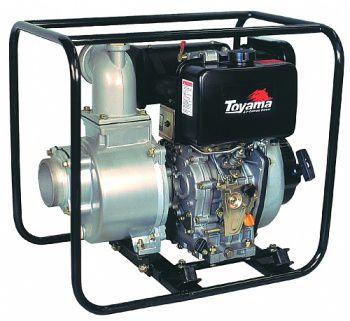 Motobomba Diesel Refrigerado A Ar Auto Escorvante Tdwp100Se Toyama