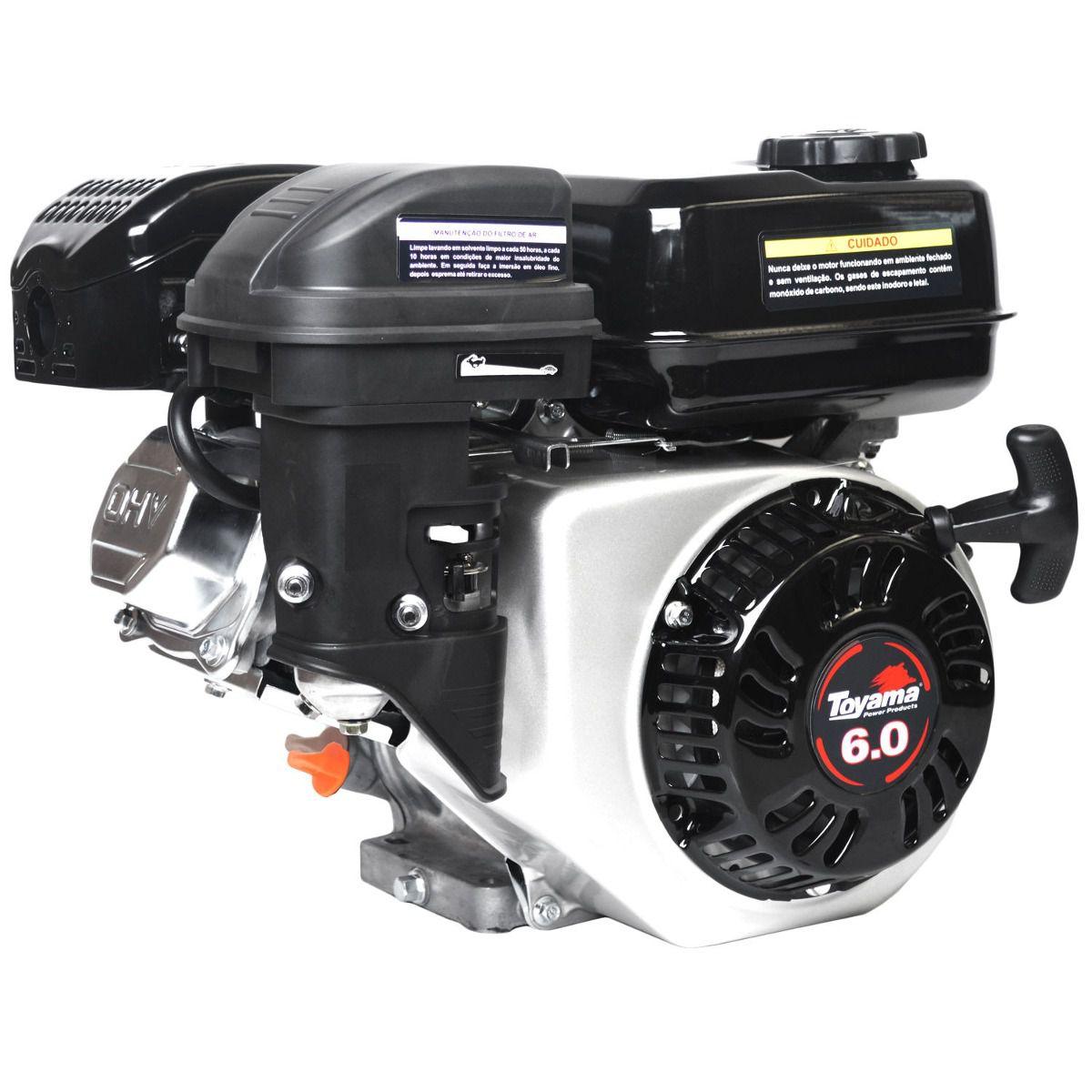 Motor a Gasolina 4 Tempos Toyama TF60FX2 - 6 HP - Eixo 3/4