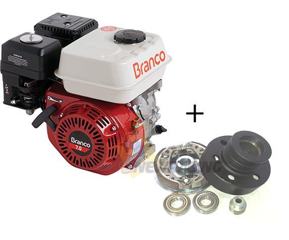 Motor Branco 6.5hp Embreagem Mini Buggy P. Eletrica