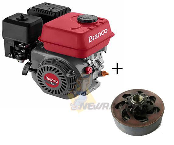Motor Branco 6.5hp Embreagem Pinhao Mini Buggy P. Eletrica