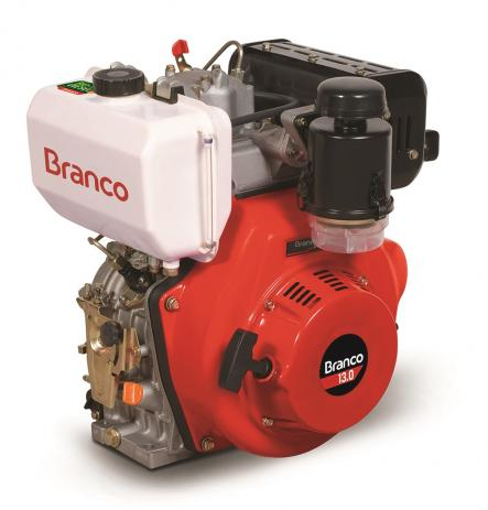 Motor Branco Bd 13.0 Cv Part. Elétrica - Com Redução