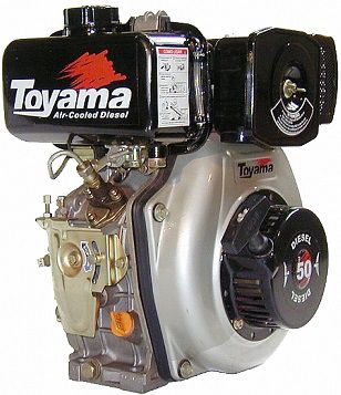 Motor Diesel Tde50E Partida Eletrica Toyama
