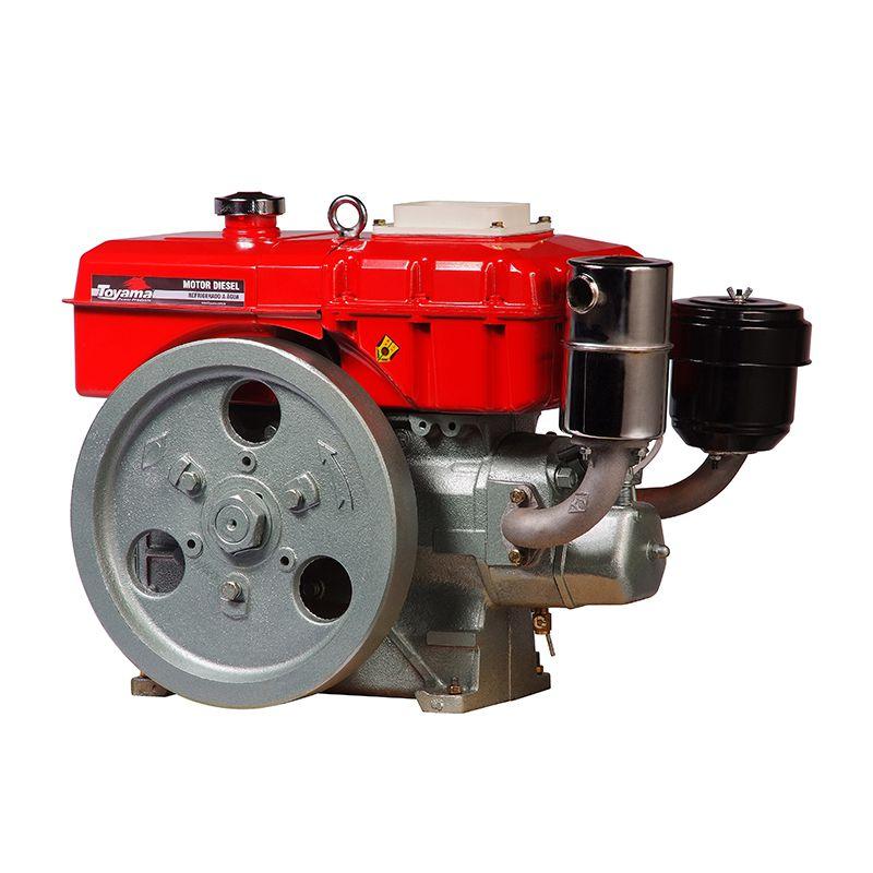 Motor Diesel Refrigerado Água Com Radiador Tdw8R Toyama