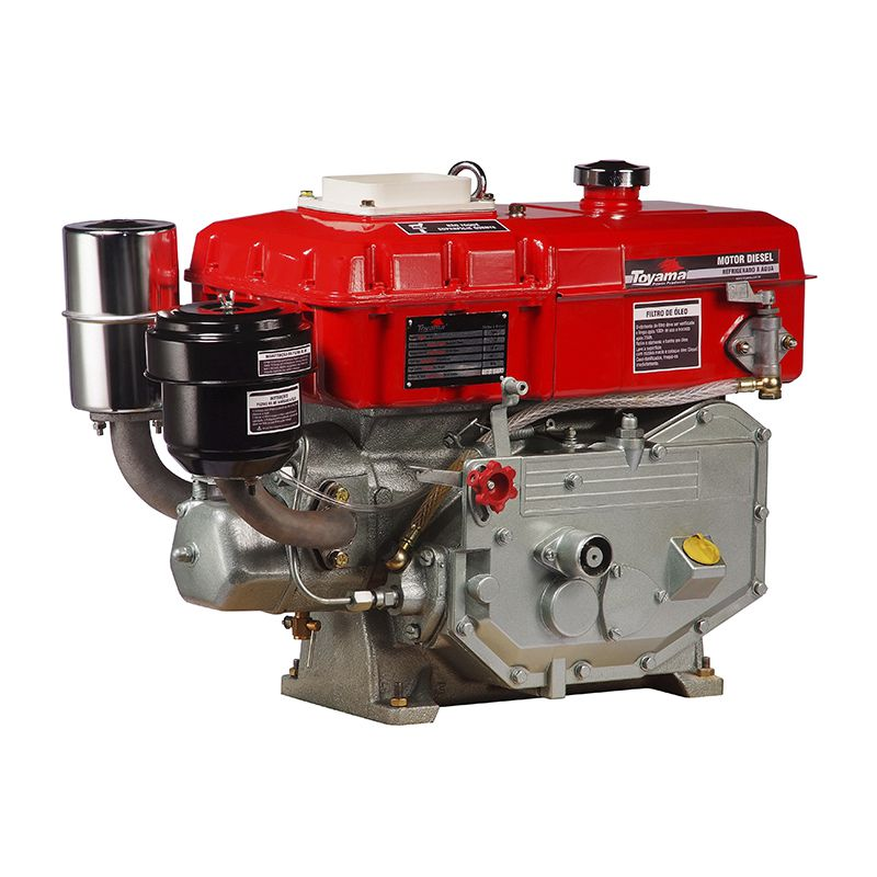 Motor Diesel Refrigerado Água Com Radiador Tdw8Re Toyama