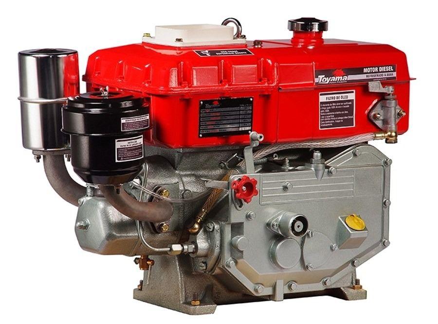 Motor Diesel Refrigerado Água Com Sifão Tdw8E Toyama