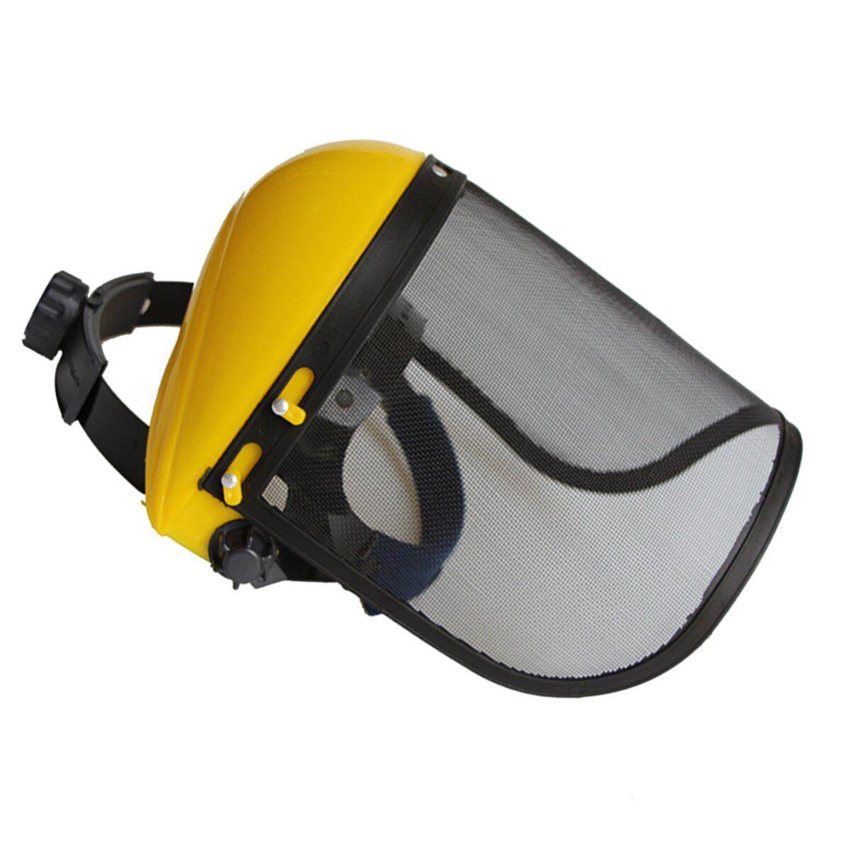 Protetor Facial De Tela E Com Ajuste De Tamanho De Rocadeira