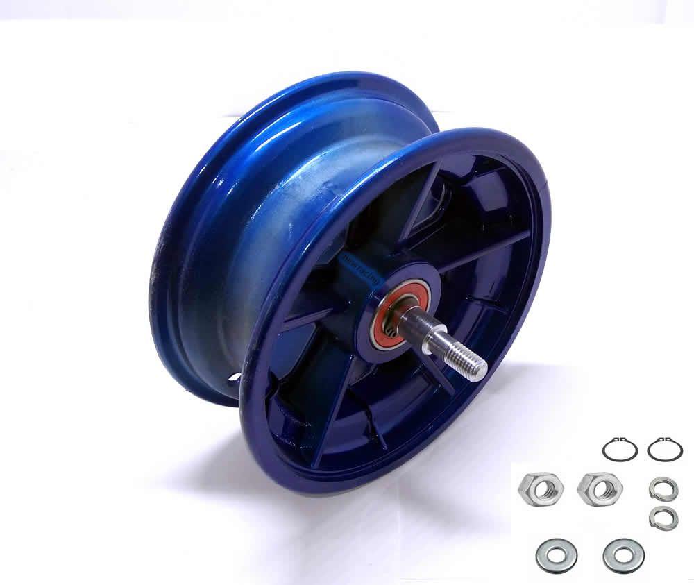 Roda dianteira walk machine montada azul original