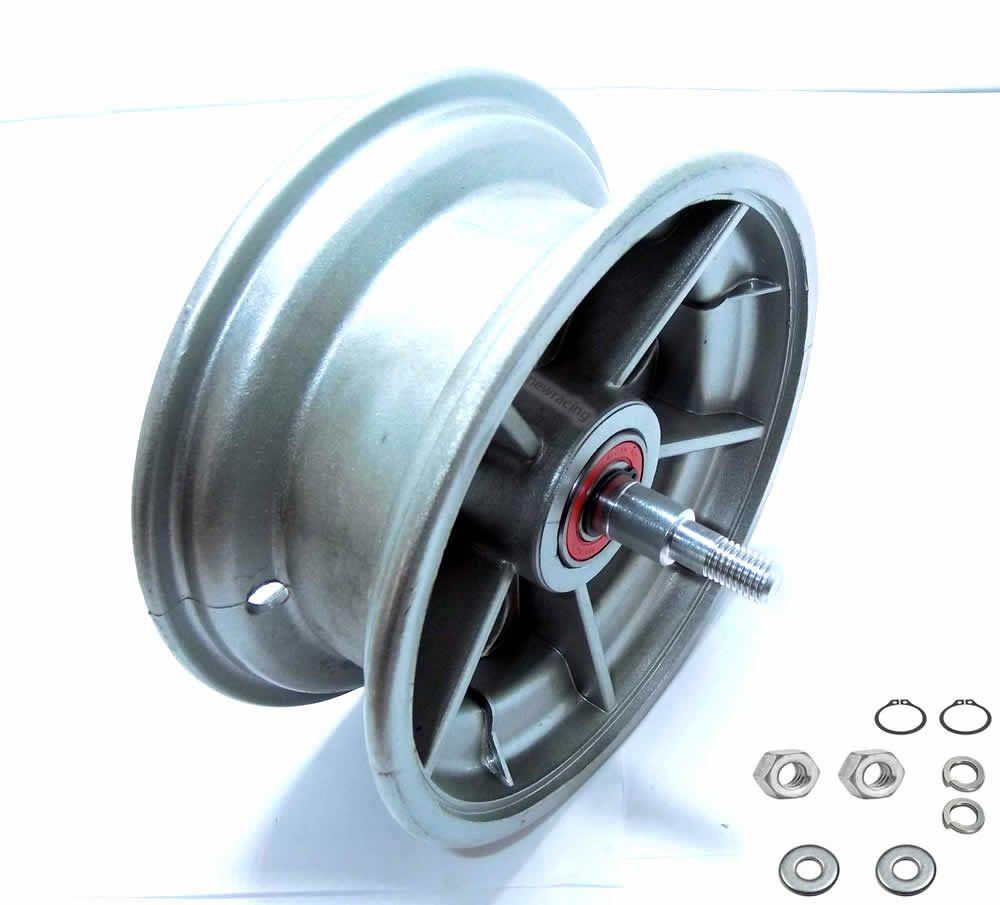 Roda dianteira walk machine montada prata original
